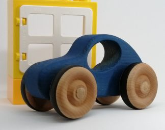 blue handmade baby toy car