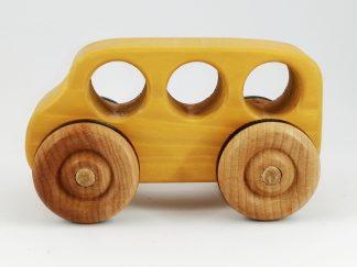 handmade wooden toy bus