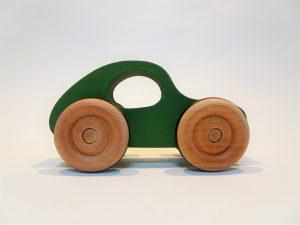 toy wood car - green side