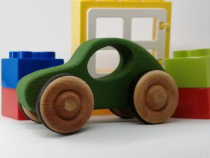 hand made green wood car