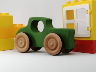 green 32 ford hot rod wooden toy