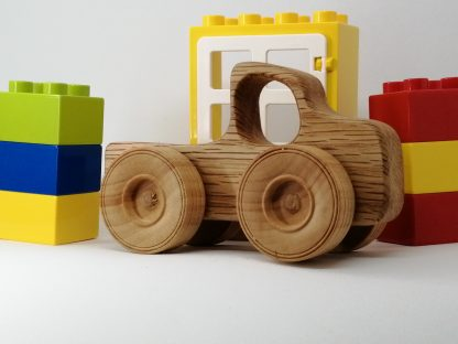 Natural Wood baby toy truck with other toys