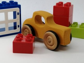 Wooden 32 Ford Toy with lego blocks