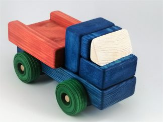 Handmade wooden toy truck
