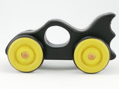 side view of baby toy batmobile