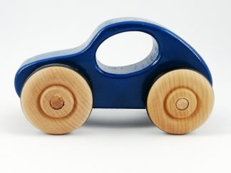 Side view blue toy car for baby gift