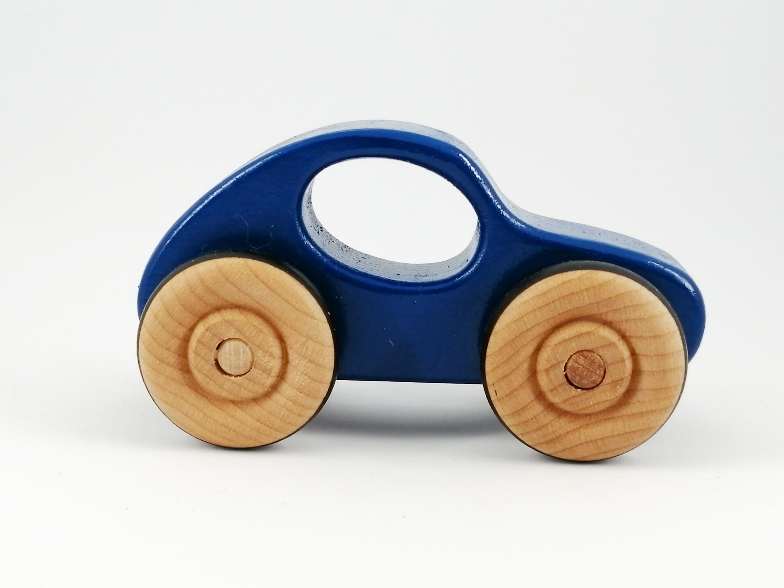 Wooden Toy Car in Bright Blue   Handmade by Tree House Toys