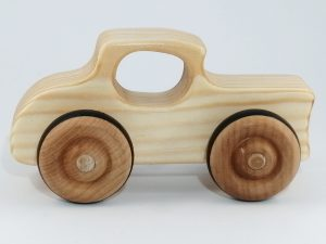 handmade real wood toy car hot rod