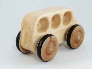 rear side view eco-friendly toy bus