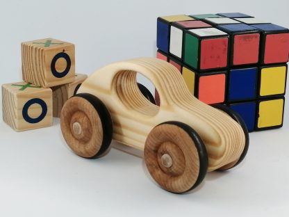 wood toy car with other toys