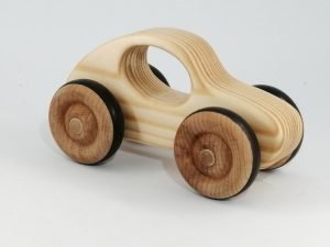 right view real wood toy car