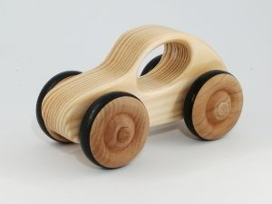 front view wood grain toy car