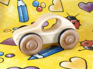 real wood car toy