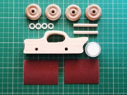 parts of a wooden toy kit