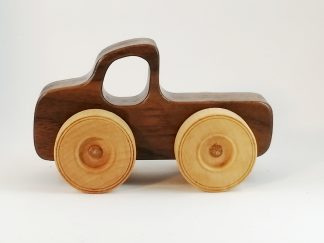 exotic hardwood toy truck