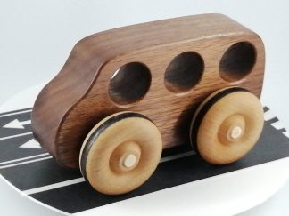 luxury wooden toy bus