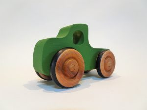 bright green pickup truck toy