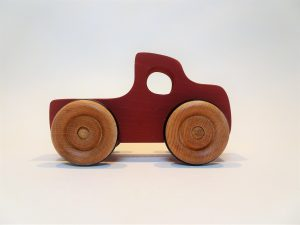 toy pickup truck - red, side view